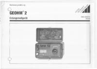 Manuale d'uso GossenMetrawatt Geohm 2