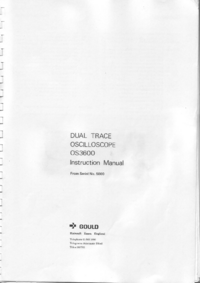Servicio y Manual del usuario Gould OS3600