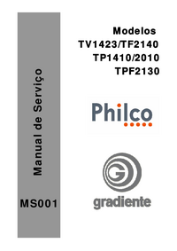 Manual de servicio Gradiente TV1423