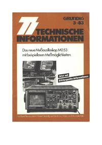 Serviceanleitung Grundig MO 53