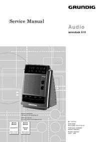 Service Manual Grundig Sonoclock 910