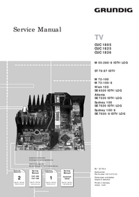 Service Manual Supplement Grundig M 55-280/8 IDTV/LOG