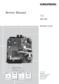 Service Manual Supplement Grundig ST 55-801/9 text