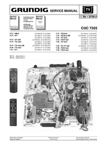 Service Manual Supplement Grundig P 37 - 731 text GB