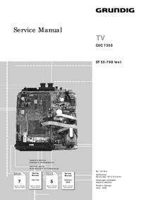 Servicehandboek Extension Grundig ST 55-798 text