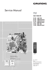 Service Manual Grundig P 45 – 846 FR text