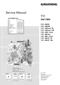 Service Manual Supplement Grundig P 37 – 080 IR