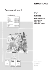 Service Manual Supplement Grundig P 37 – 071 IR