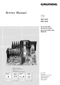 Service Manual Supplement Grundig M 72-270/8 IDTV/LOG Elegance