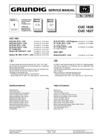 Service Manual Supplement Grundig M 84-210/8 IDTV / LOG