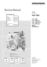 Service Manual Supplement Grundig P37 – 830/4 text