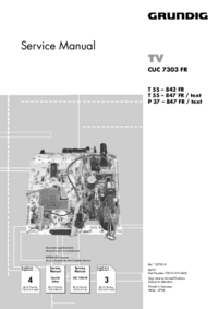 Service Manual Supplement Grundig T 55 – 847 FR / text