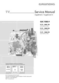 Service Manual Supplement Grundig CUC 7303 F