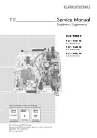 Supplément manuel de réparation Grundig CUC 7303 F