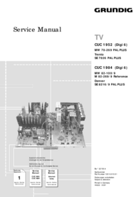 Service Manual Supplement Grundig Denver SE 8216/9 PAL PLUS