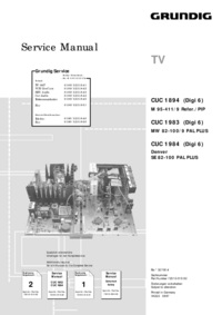 Service Manual Supplement Grundig Denver SE 82-100 PAL PLUS