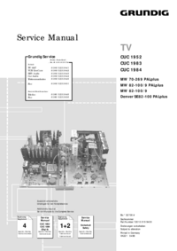 Service Manual Supplement Grundig Denver SE 82-100 PALplus