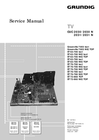 Servicehandboek Grundig Greenville 7003 text
