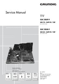 Service Manual Supplement Grundig CUC 2058 F