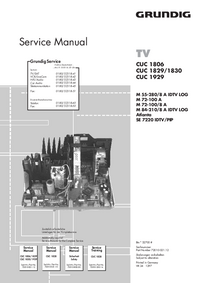 Service Manual Supplement Grundig CUC 1829/1830