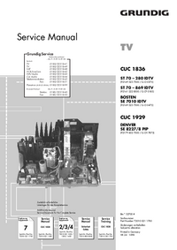 Service Manual Supplement Grundig BOSTEN SE 7010 IDTV