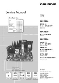 Manuale di servizio Supplemento Grundig Greenville 100 SE 7030