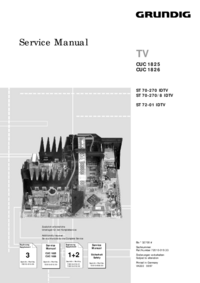 Service Manual Supplement Grundig Chassis CUC 1825