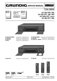 Manual de servicio Grundig GV 460 VPT
