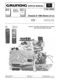 Manuale di servizio Grundig GT 2105