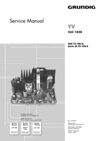 Service Manual Grundig Chassis CUC 1828