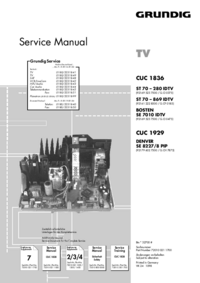 Service Manual Supplement Grundig Denver SE 8227 / 8 PIP