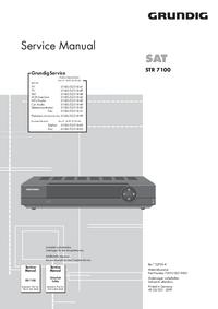 manuel de réparation Grundig STR 7100