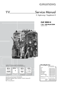 Serviço Manual Supplement Grundig T 55 – 830 Multi/COM