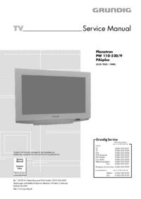 manuel de réparation Grundig Planatron PW 110-520/9 PALplus