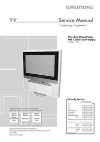 Manual de servicio Grundig Fine Arts PlanaVision PW 110-8110/9 Dolby
