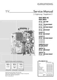 Руководство по техническому обслуживанию Grundig XENTIA 55 ST 55 – 400 DOLBY