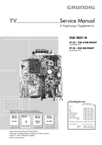 Service Manual Grundig ST 55 – 834 GB/DOLBY