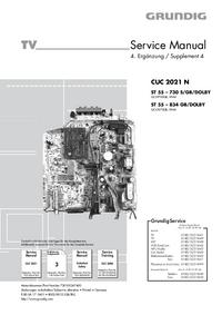 Manual de serviço Grundig ST 55 – 834 GB/DOLBY