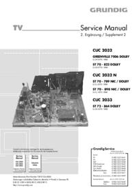 manuel de réparation Grundig ST 70 - 789 NIC / DOLBY