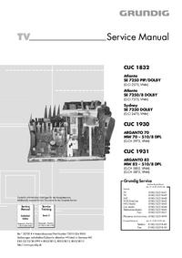 Руководство по техническому обслуживанию Grundig CUC 1832