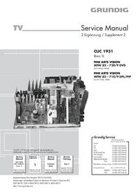 Руководство по техническому обслуживанию Grundig FINE ARTS VISION MFW 82 – 710/9 DPL/PIP