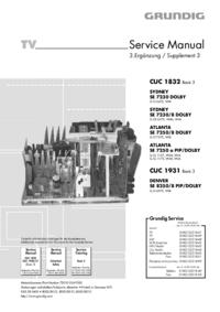 Manual de serviço Grundig ATLANTA SE 7250 a PIP/DOLBY