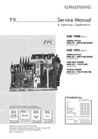 Service Manual Grundig XENTIA 70 Flat MFW 70 – 490/8 GB/DOLBY