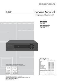 Servicehandboek Grundig STR 2300 MV