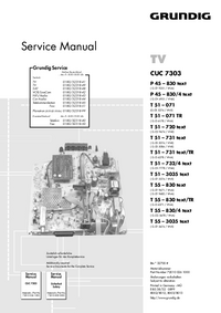 Service Manual Grundig T 55 – 830 text/TR