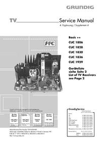 Service Manual Supplement Grundig CUC 1929