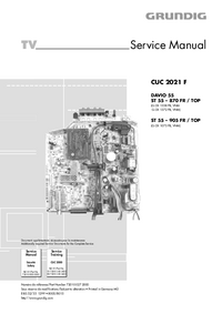 Service Manual Grundig ST 55 – 905 FR / TOP