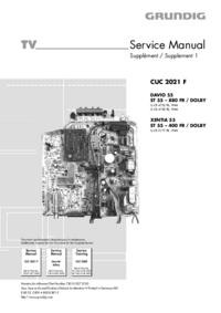 Руководство по техническому обслуживанию Grundig XENTIA 55 ST 55 – 400 FR / DOLBY