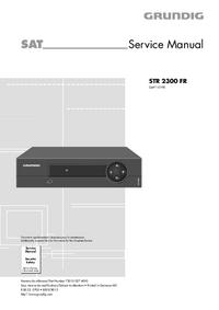 Manual de servicio Grundig STR 2300 FR