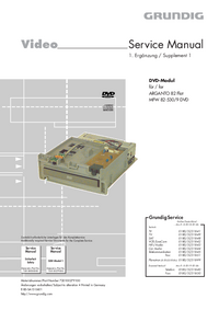 Service Manual Grundig MFW 82-530/9 DVD